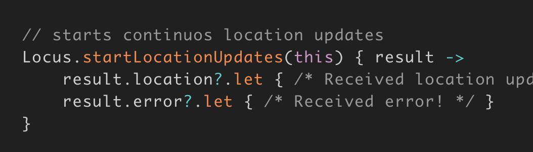 Retrieving Continuous Location Update