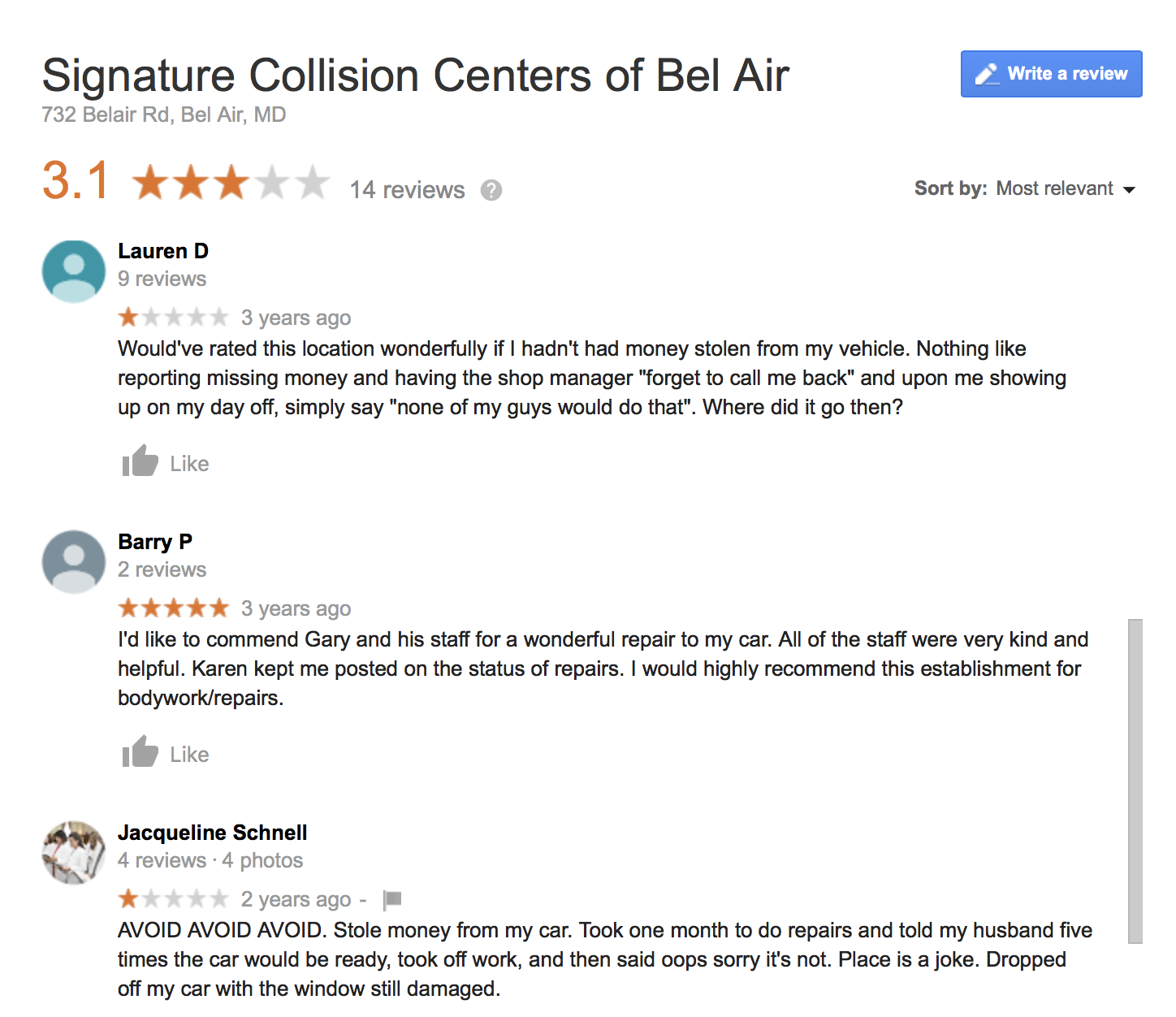 Collision Centers review - 2