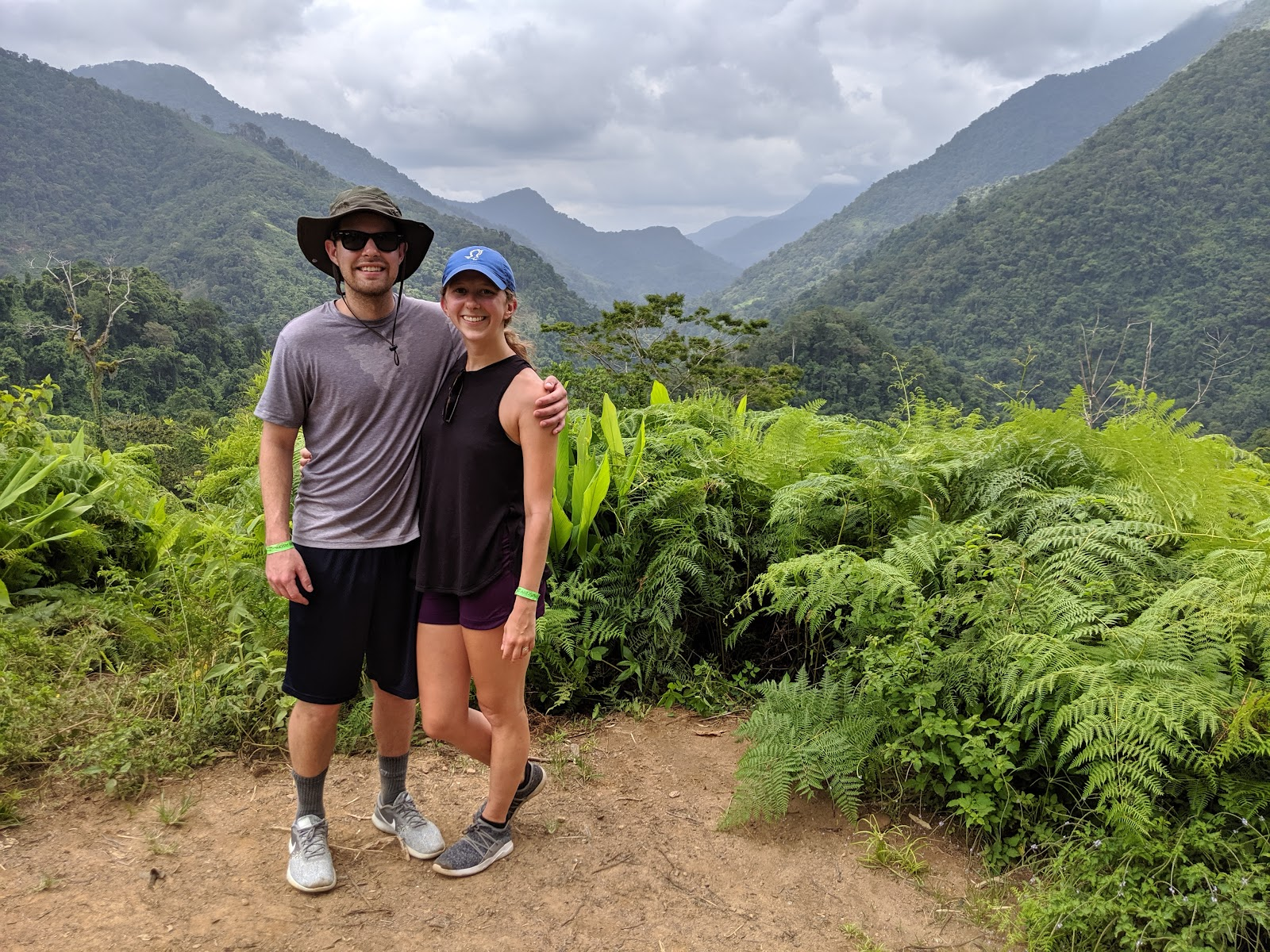 Brandon and Erin during the Lost City Trek in Colombia.