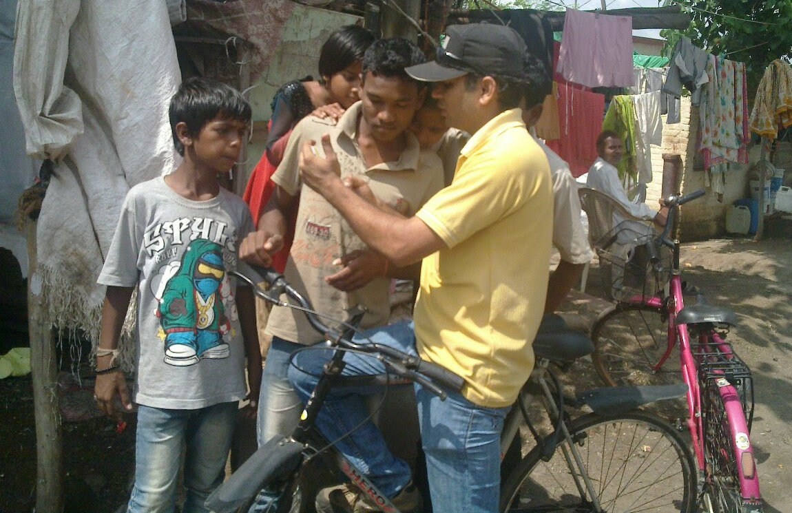 Sunil Khandbahale biking to talent hunting too far interior parts and inspire youths towards education, technology, and science