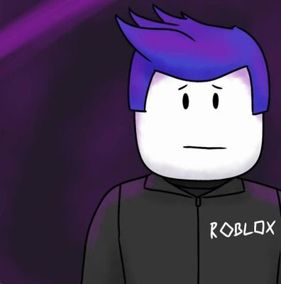 Roblox male character with a sad face.