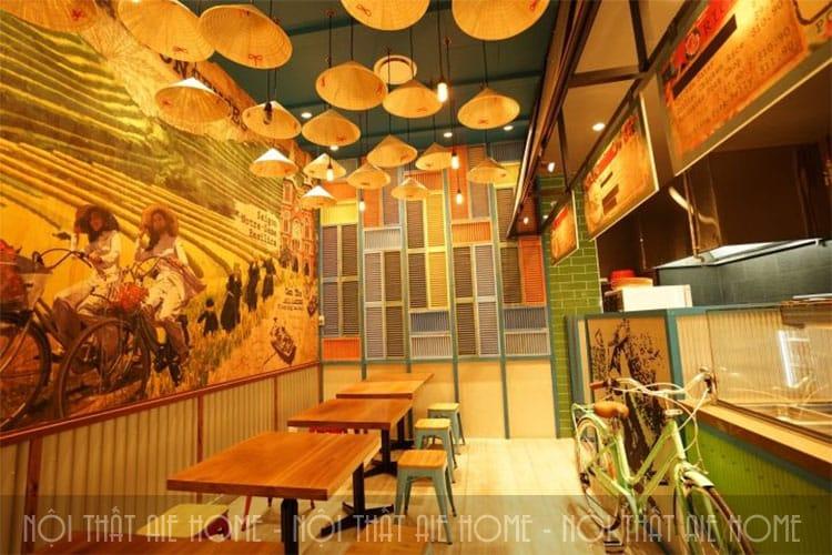 Thiết kế nhà hàng đồng quê
