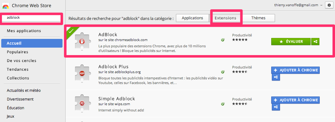 Adblock l 39 extension pour arr ter la pub sur chrome le for Bloquer les fenetre de pub google chrome