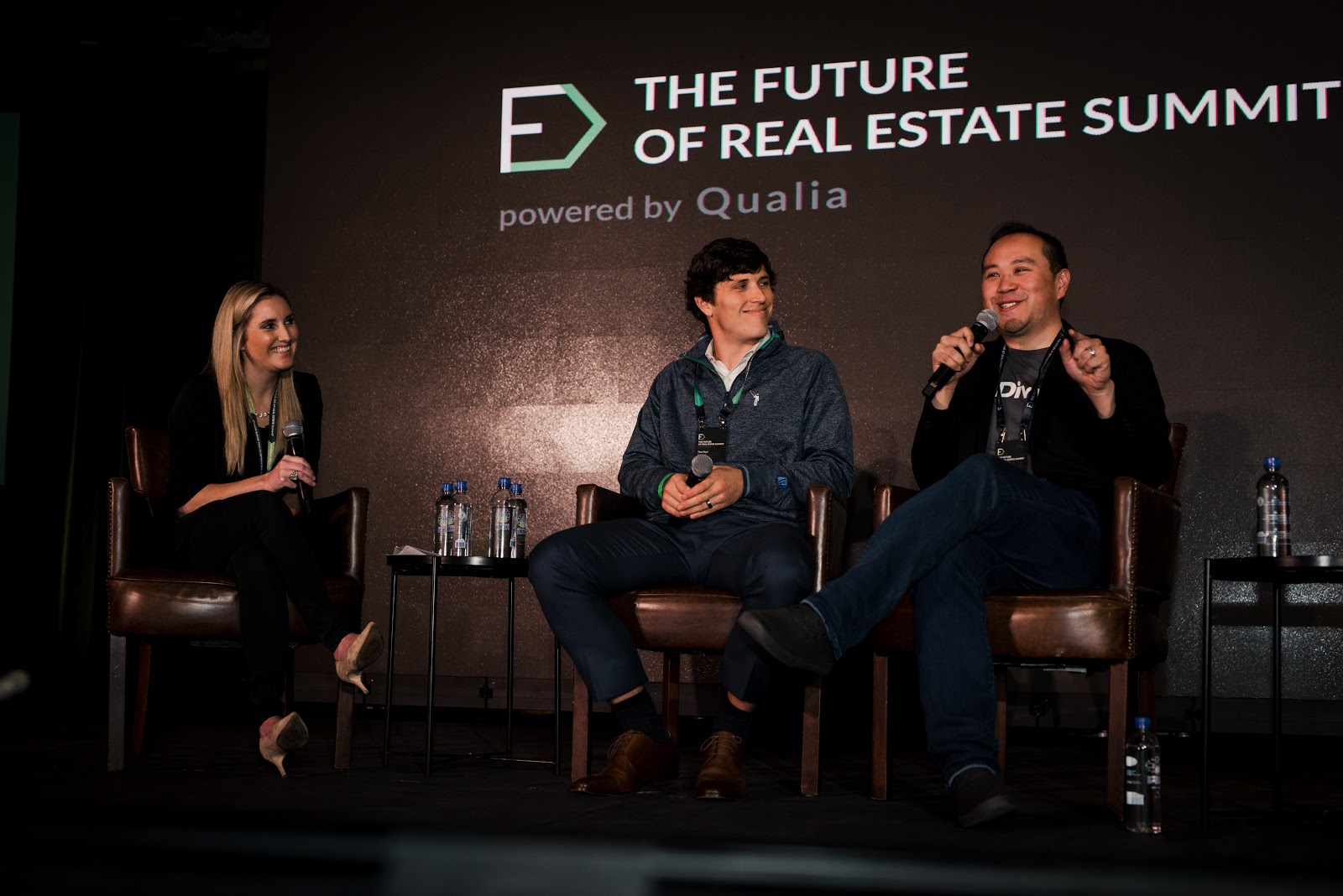 Jamie Kump of Qualia, Tim Heyl of Homeward, and Brian Ma of Divvy discuss the future of home ownership at the Future of Real Estate Summit