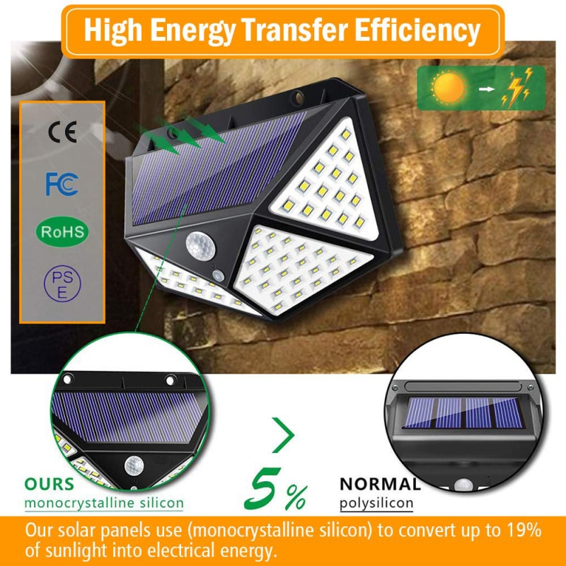 Solar Lamp Outdoor LED Wall Light