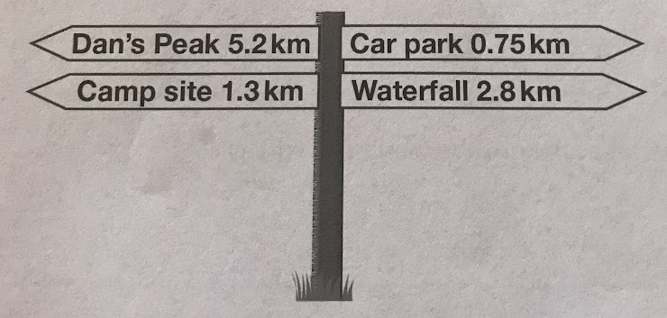 How many METRES is it from the car park to the camp site?