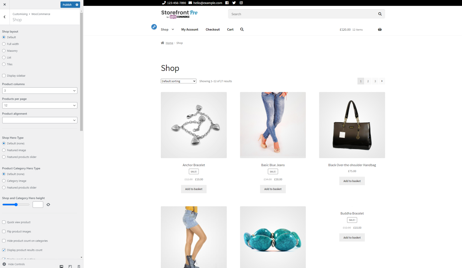 Adding background image or category slider to WooCommerce shop page