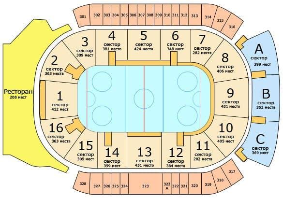 Смеха хоккейной арены