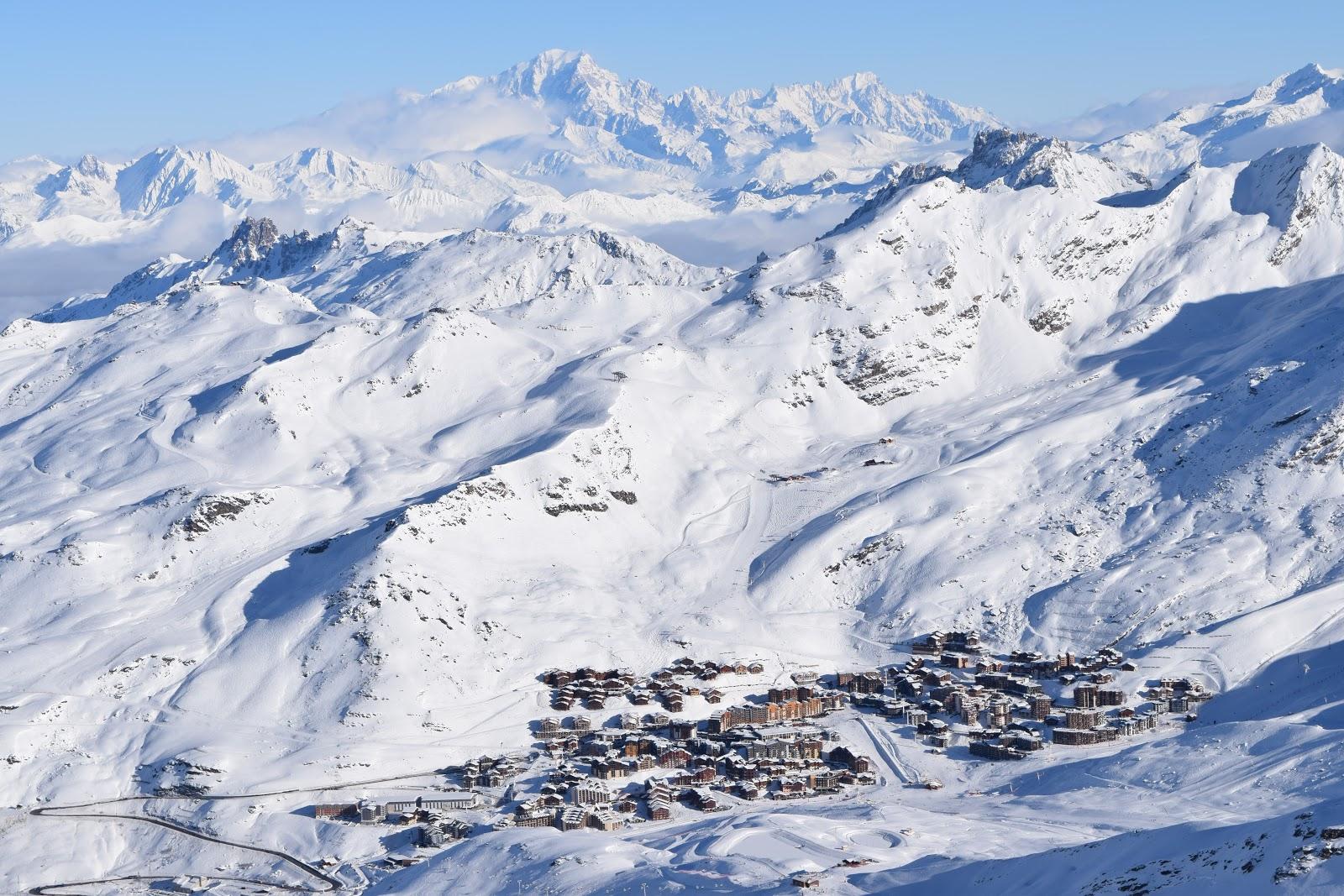 Vista de Val Thorens desde as alturas