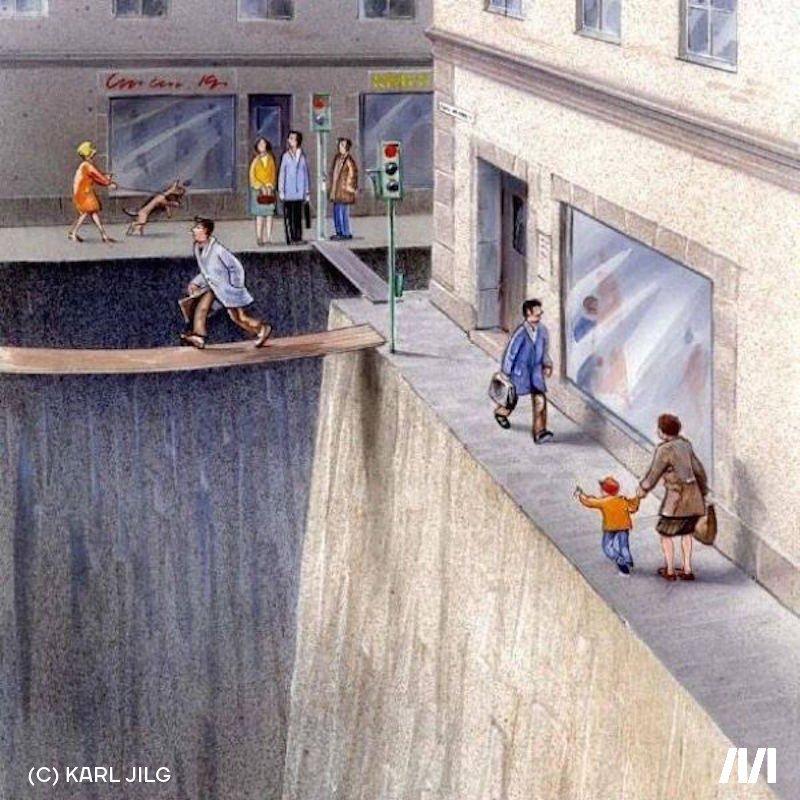 Imagen ilustrativa sobre peatones y cicovías