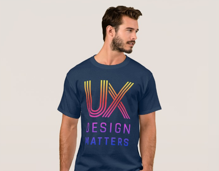 UX Design Matters Rainbow Logo Men's T-Shirt