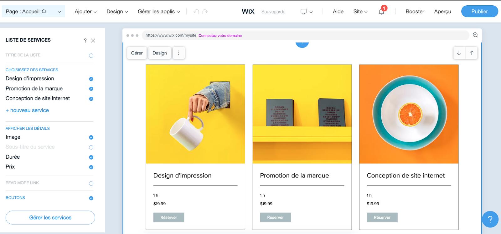 Personnaliser votre site Wix