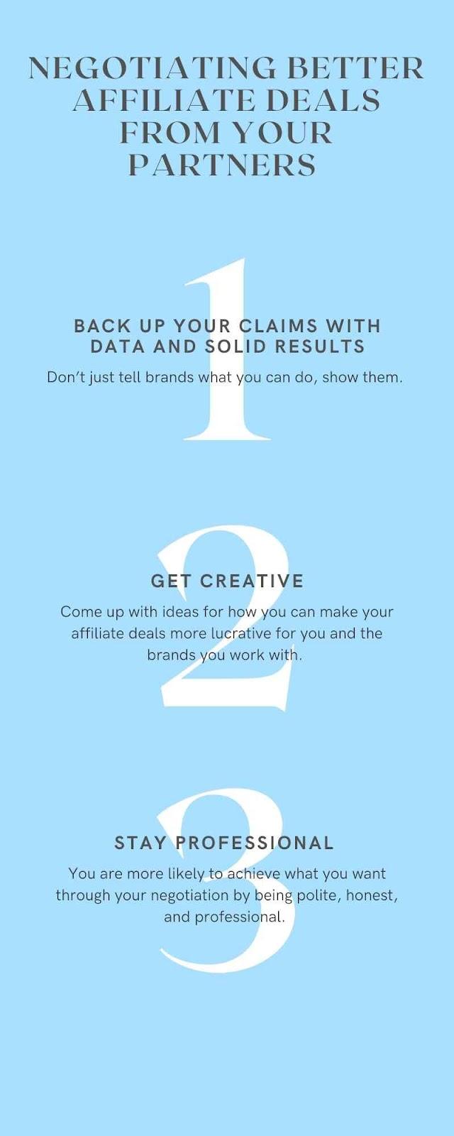 negotiating better affiliate deals infographic
