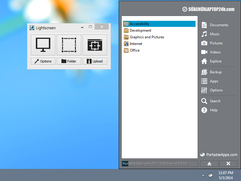 Phần mềm Lightscreen