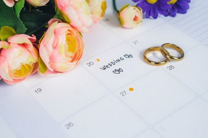 the most favorable days for a wedding  1