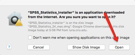 Mac Open SPSS Installer