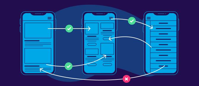 App UX design process