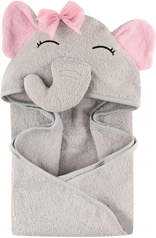 Hudson Baby Animal Face Baby Bath Towel