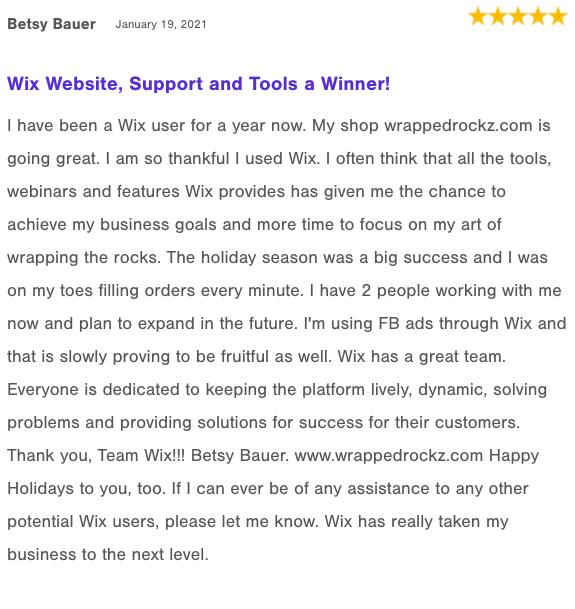 Wix reviews