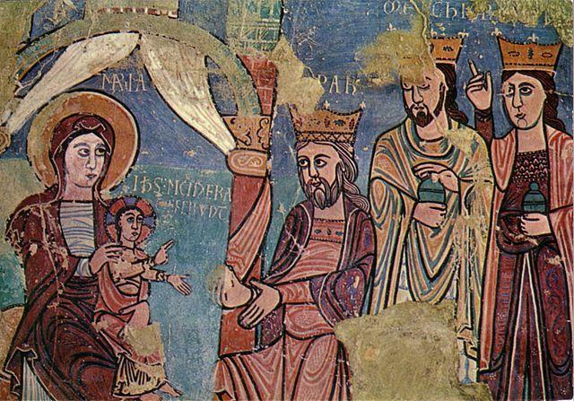 Resultado de imagen de epifanía de navasa (huesca). pintura románica del s. xvii