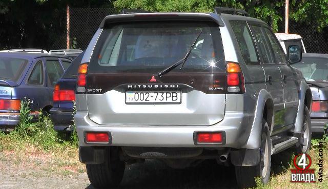 Авто на якому приїхали родичі Таргонія