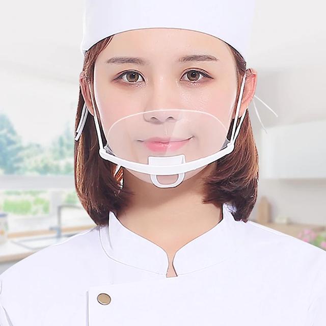 Khẩu trang nhựa che miệng giúp bạn thoải mái nói chuyện với khách hàng