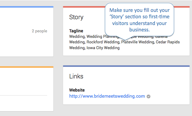 Bride Meets Wedding Google Plus Call Out