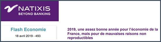 Natixis 2019 une assez bonne année pour la France