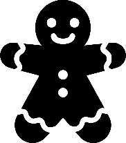 Gingerbread Man Svg Png Icon Free Download (#549864) - OnlineWebFonts.COM
