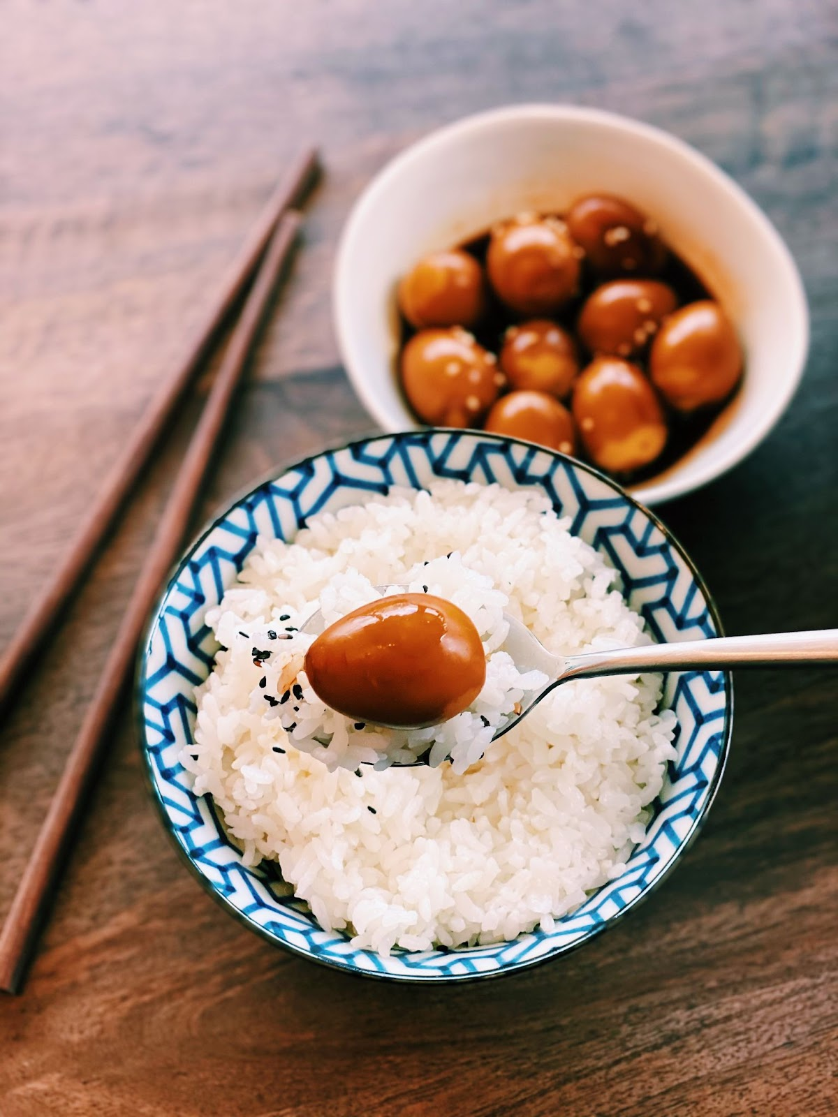 Korean Braised Quail Eggs
