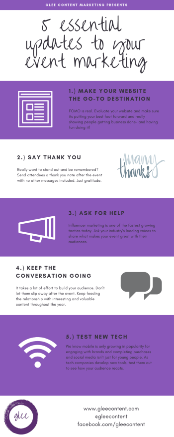 5 essential updates to your event marketing infographic
