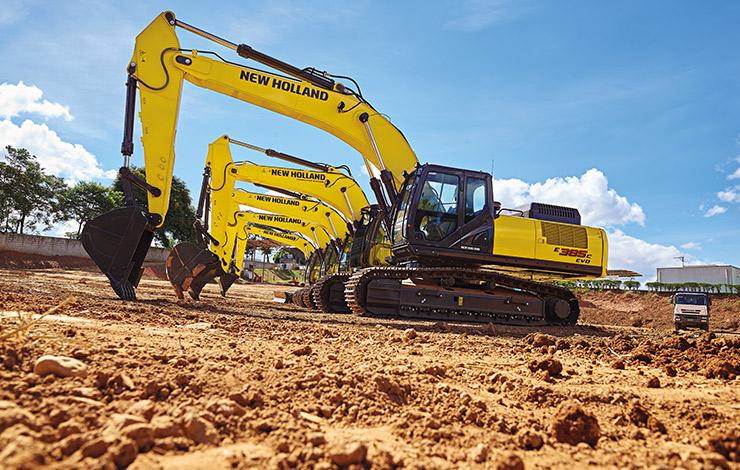 escavadeiras para construção civil