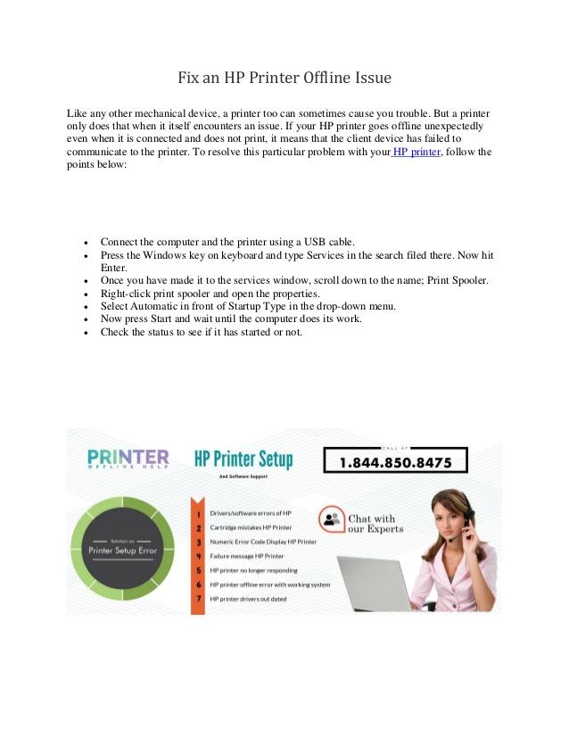 hp printer offline problem