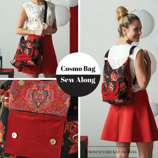 Week 3 of the Cosmo Bag Sew Along  Construction & Customizing