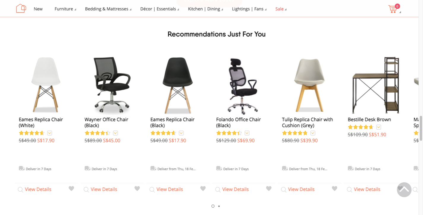 Forty Two product recommendations