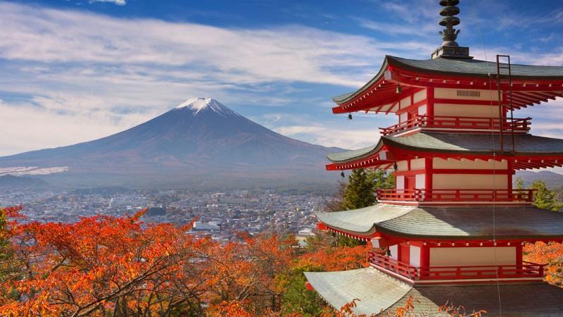 Vào màu thu thời tiết Nhật Bản đẹp đến nao lòng