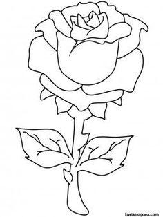 A flower valentine coloring page