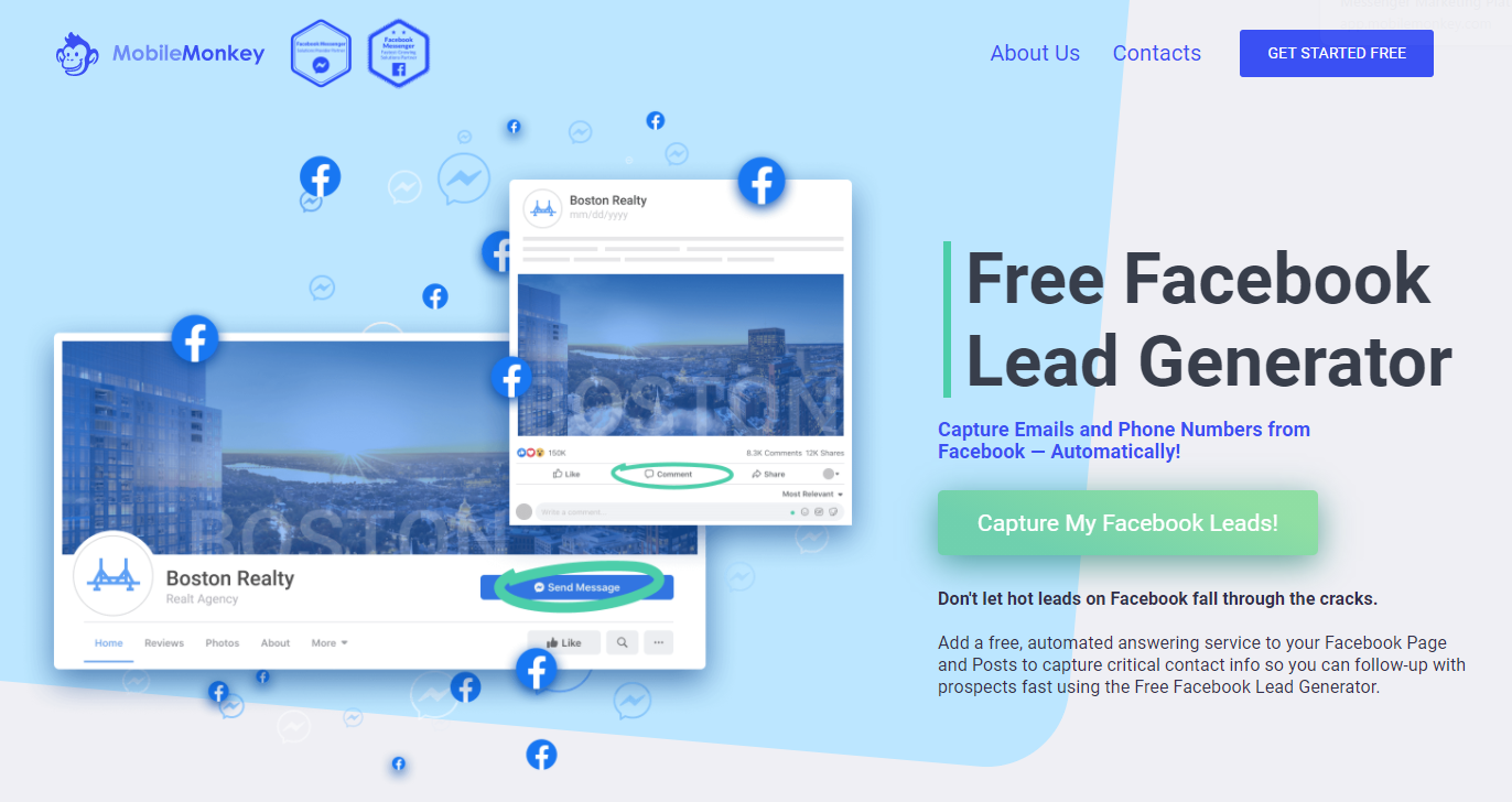 Facebook lead generator