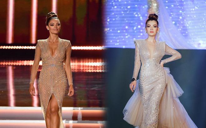 Xem Trân Đài ở Chung kết Đại Sứ Hoàn Mỹ mà cứ ngỡ cựu Hoa hậu Hoàn vũ Demi!