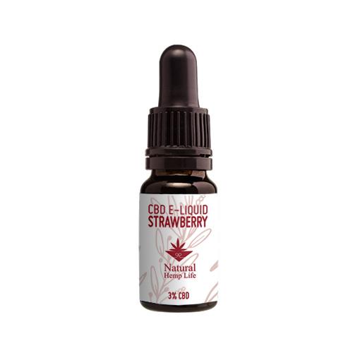 CBD E-juice jordgubb 3% från Natural Hemp Life