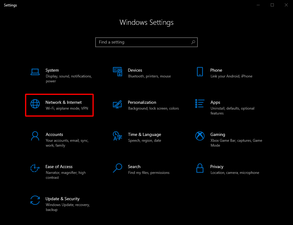 Find Network Security Key on Windows 10. Windows Settings < Network & Internet. Source: nudesystems.com