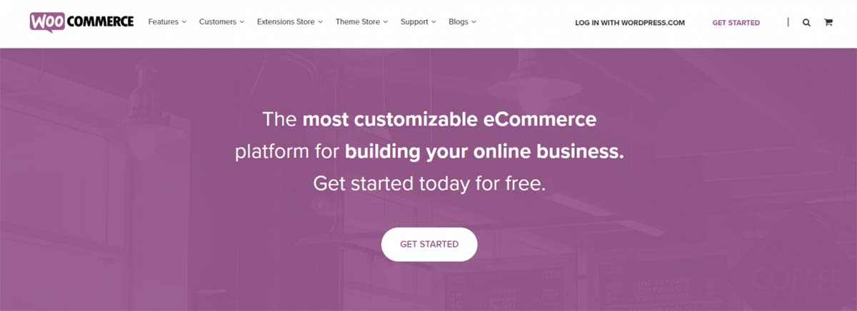 Exemplo do plugin Woocommerce aplicado num site do WordPress com foco em vendas online