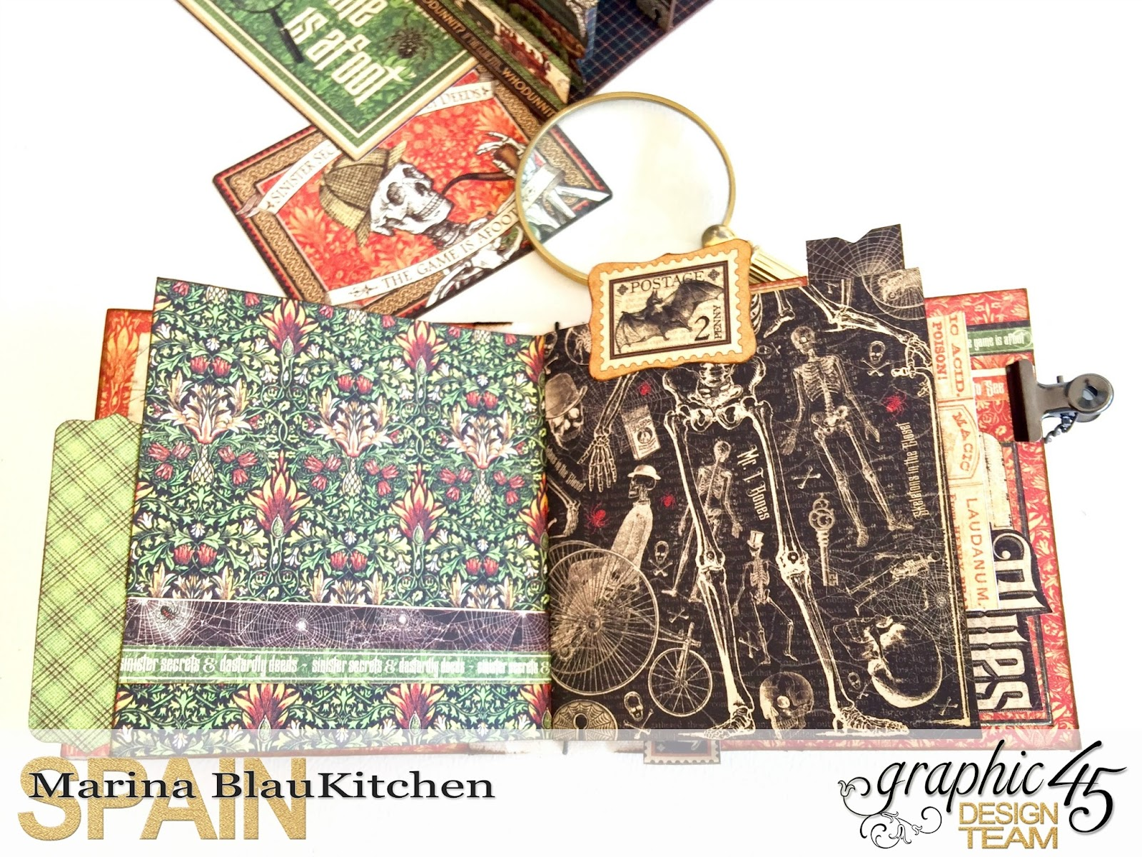 Stand and Mini Album Master Detective by Marina Blaukitchen Product by Graphic 45 photo 16.jpg
