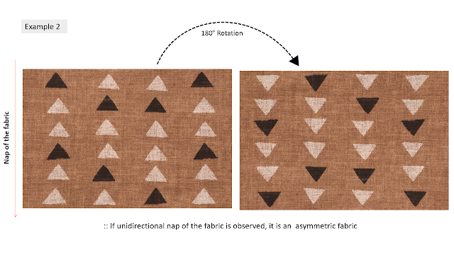 Nap decides asymmetry or symmetry of the fabric