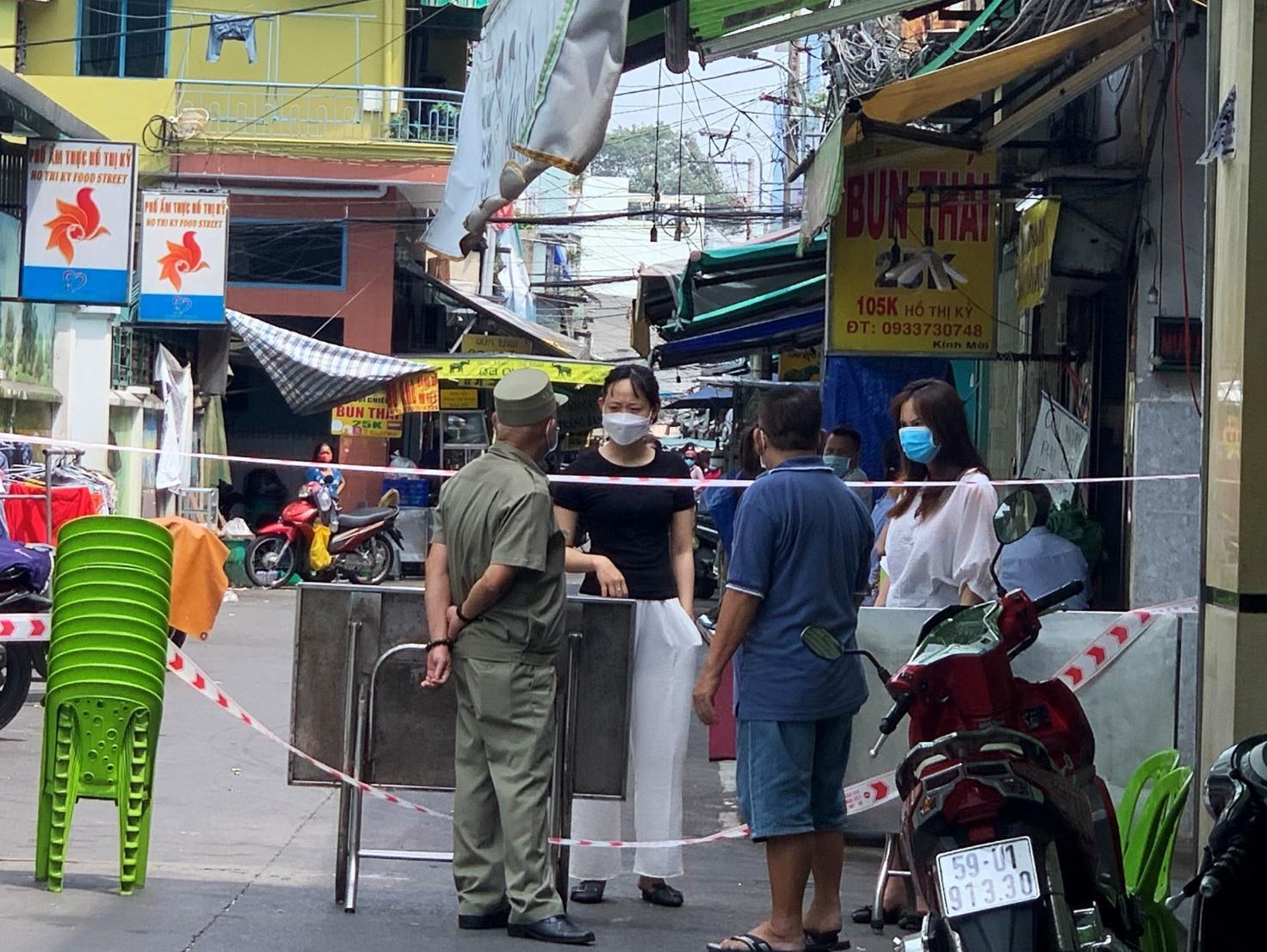 Ca bệnh tái dương tính từng đến quán bún Thái trên đường Hồ Thị Kỷ (P.1, Q.10, TP.HCM) vào ngày 4.5 /// Ảnh: Khánh Trần