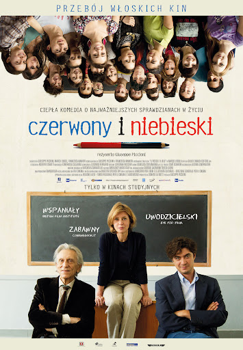 Polski plakat filmu 'Czerwony i Niebieski'