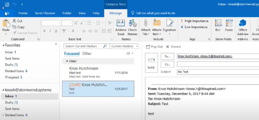 MS Outlook Inbox