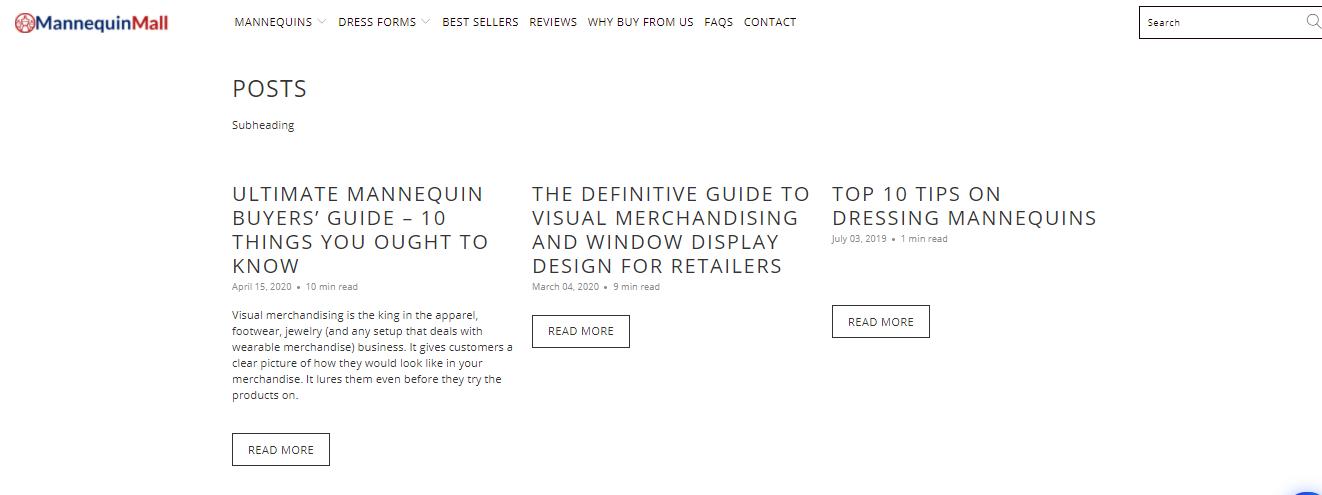 Mannequin Mall blogs