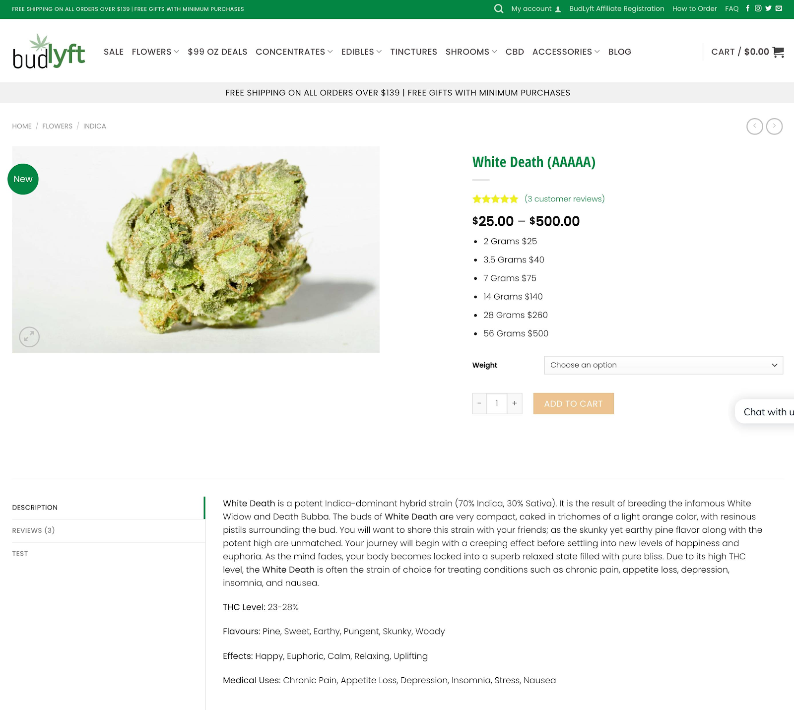 Buy Weed Online - Product Description Page