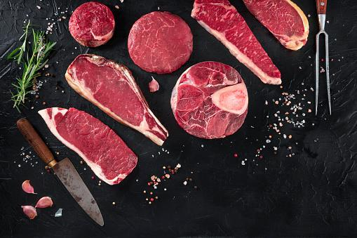 https://media.istockphoto.com/photos/various-cuts-of-meat-shot-from-the-top-on-a-black-background-with-picture-id1214484853?b=1&k=6&m=1214484853&s=170667a&w=0&h=7I_wnyu4Gnne9jKOhEi3ro9BGkxCbTW6CyTAozU_w0c=